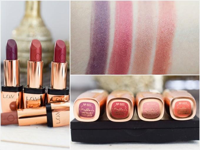 Lipaffair Color & Care Lipstick Metallic Lippenstifte, alle Nuancen Swatches