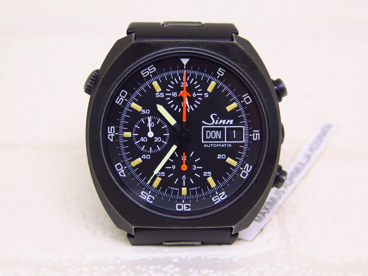 SINN DAY DATE CHRONOGRAPH REF 142 BLACK PVD - AUTOMATIC LEMANIA 5100