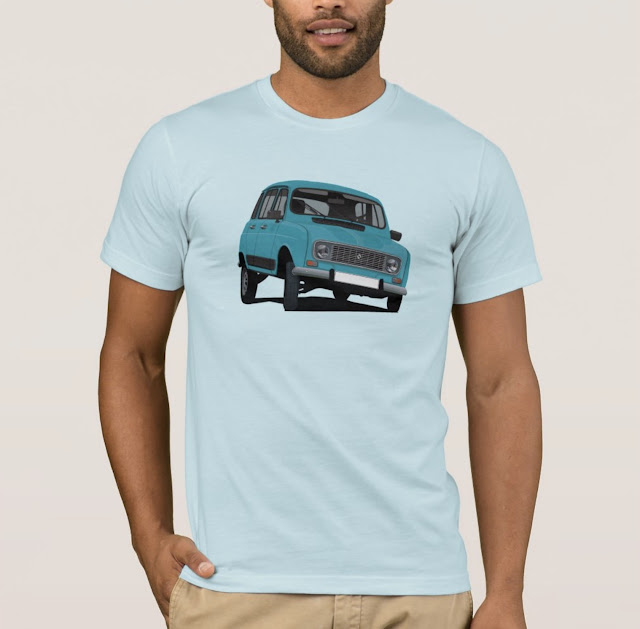 Renault 4 in turquoise shirt