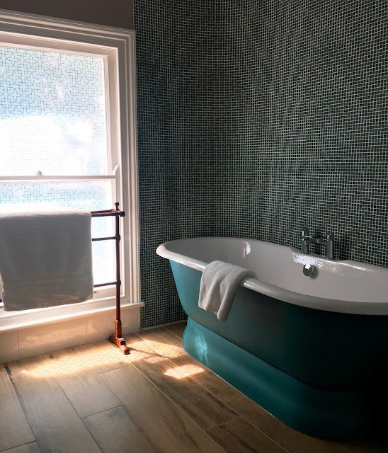 beautiful freestanding bath in the high field town house