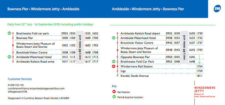 13 Reasons to Visit Windermere Jetty with Kids  - bus timetable