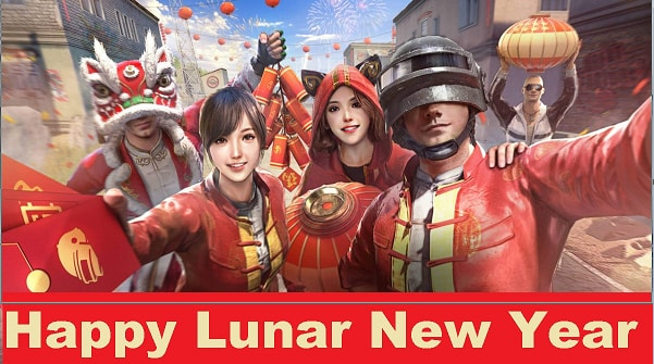 Spring party, lunar new year festival, red packet event, pubg mobile