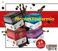 Logo Vinci gratis 96 capsule caffè Korè Dark - Strong - Arabica e Dek Compatibile Dolce Gusto