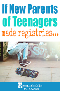 I can't stop laughing at this hilarious list of fake registry ideas for parents of teenagers! Best piece of teenager parenting humor I've read in a long time. Nothing's harder than life with teens, and it's better to laugh than cry, right? #raisingteenagers #teen #parentinghumor #funny