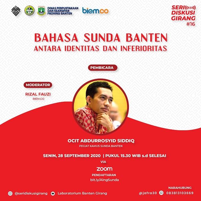 Seri Diskusi Girang #16: Bahasa Sunda Banten Antara Identitas dan Inferioritas
