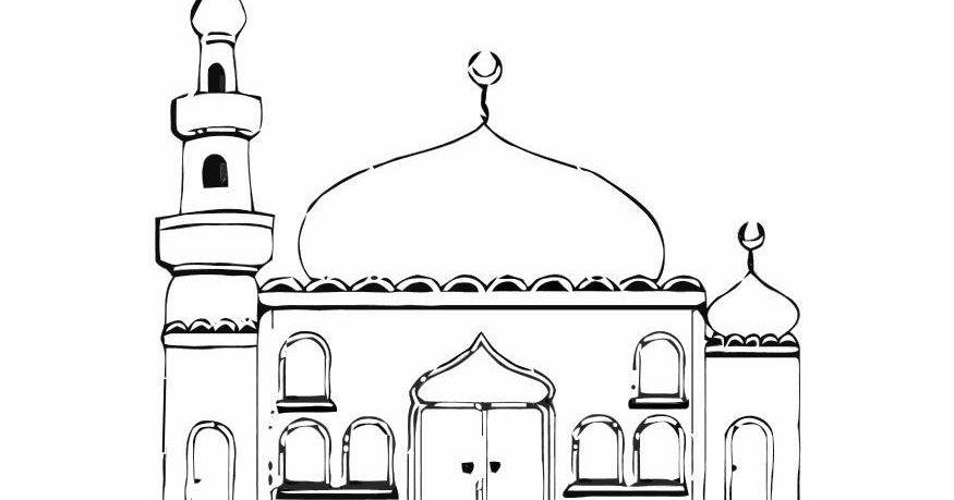 Mewarnai Gambar Masjid | Dunia Mewarnai