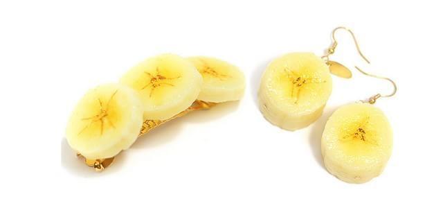 presilha e brinco de banana