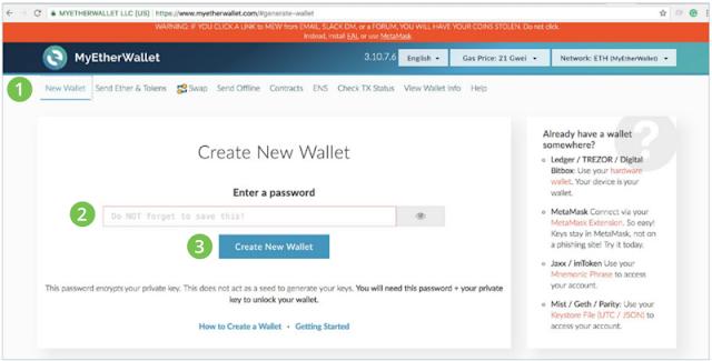 Cara Membuat Wallet ERC20 di MyEtherWallet-Airdrop