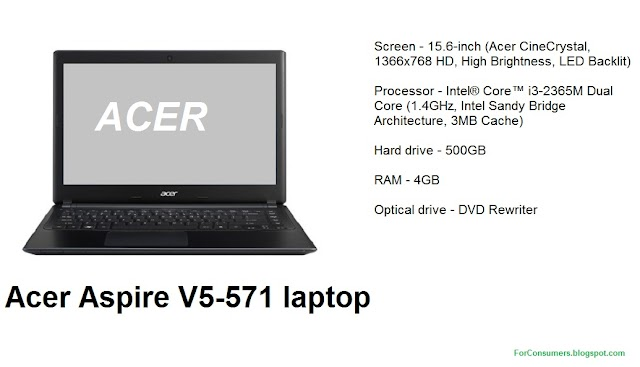Acer Aspire V5-571 laptop test, specs and review