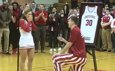 Collin Hartman proposes to girlfriend on Senior Night
