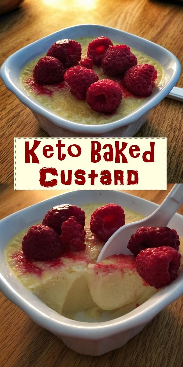 Keto Baked Custard #Dessertrecipes