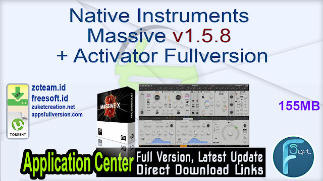 Native Instruments Massive v1.5.8 + Activator Fullversion
