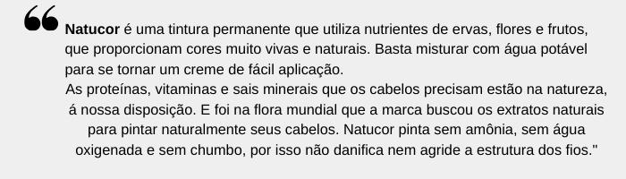 TONALIZANDO COM NATUCOR CASTANHO ESCURO 3.0 DA EMBELLEZE