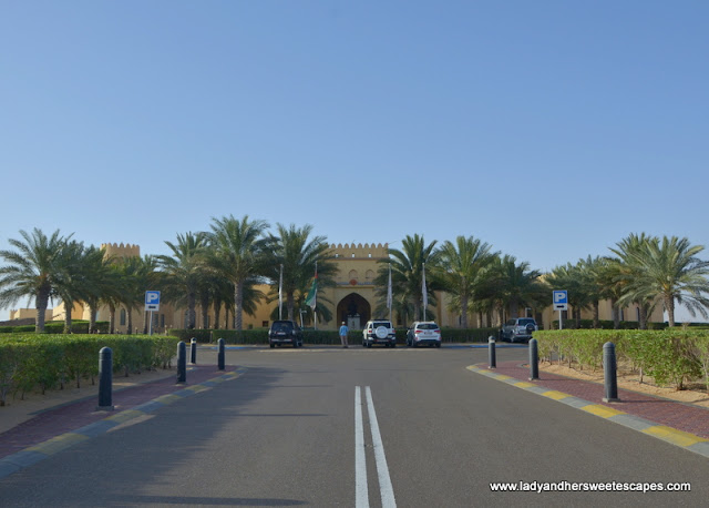 the road to Tilal Liwa Hotel