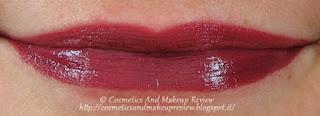 Labbra: sopra matita 39+rossetto 05, sotto solo rossetto 05