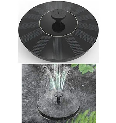 Solar-Powered Water Fountain Floating Pump by Solatec - Suitable for Parks, Gardens, Ponds, Baths, etc..