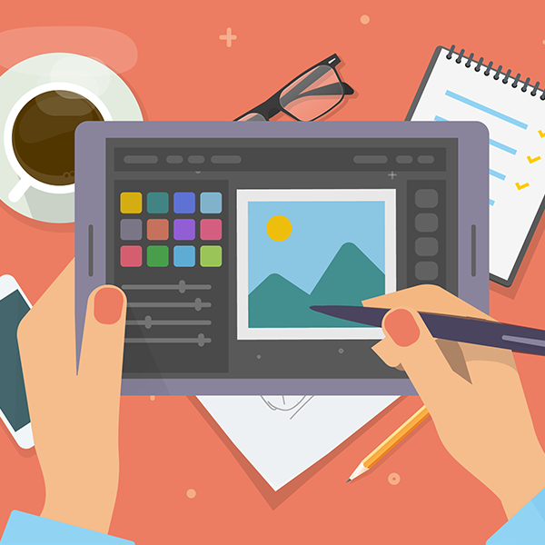 illustration of photo editing