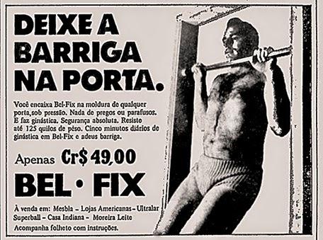 Propaganda antiga de 1972 do Bel-Fix para perder peso e obter abdome definido