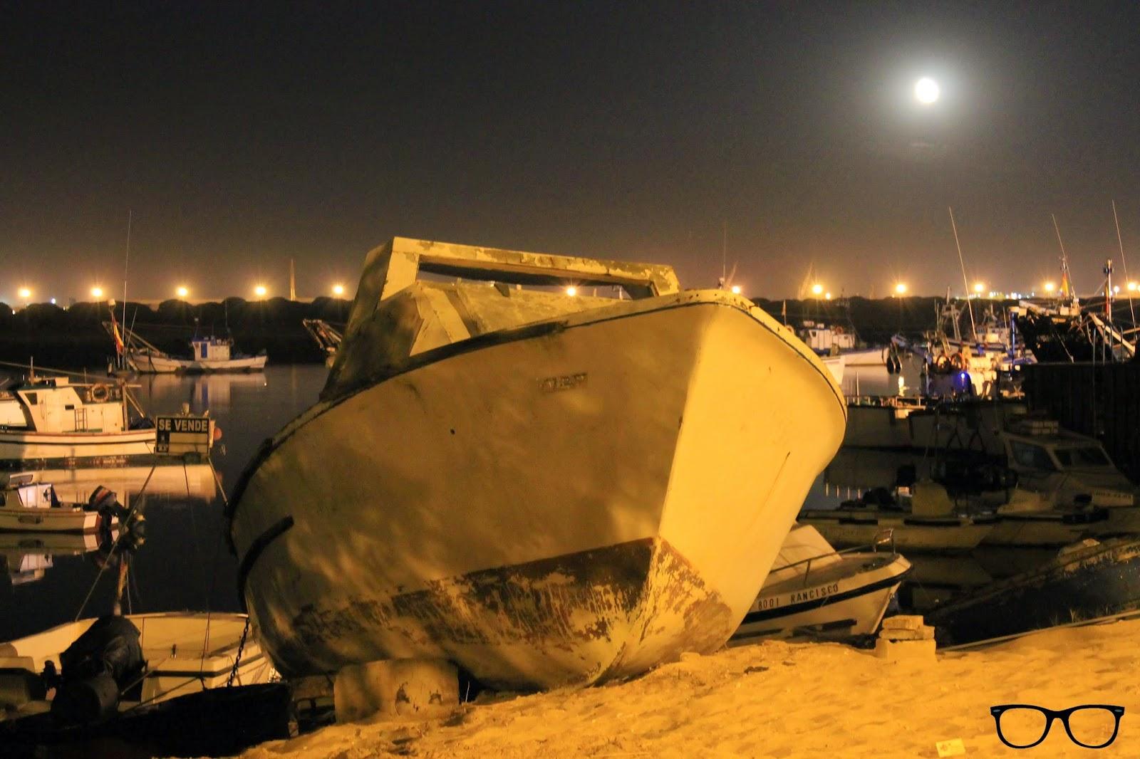 Barco en el puerto de Punta Umbría