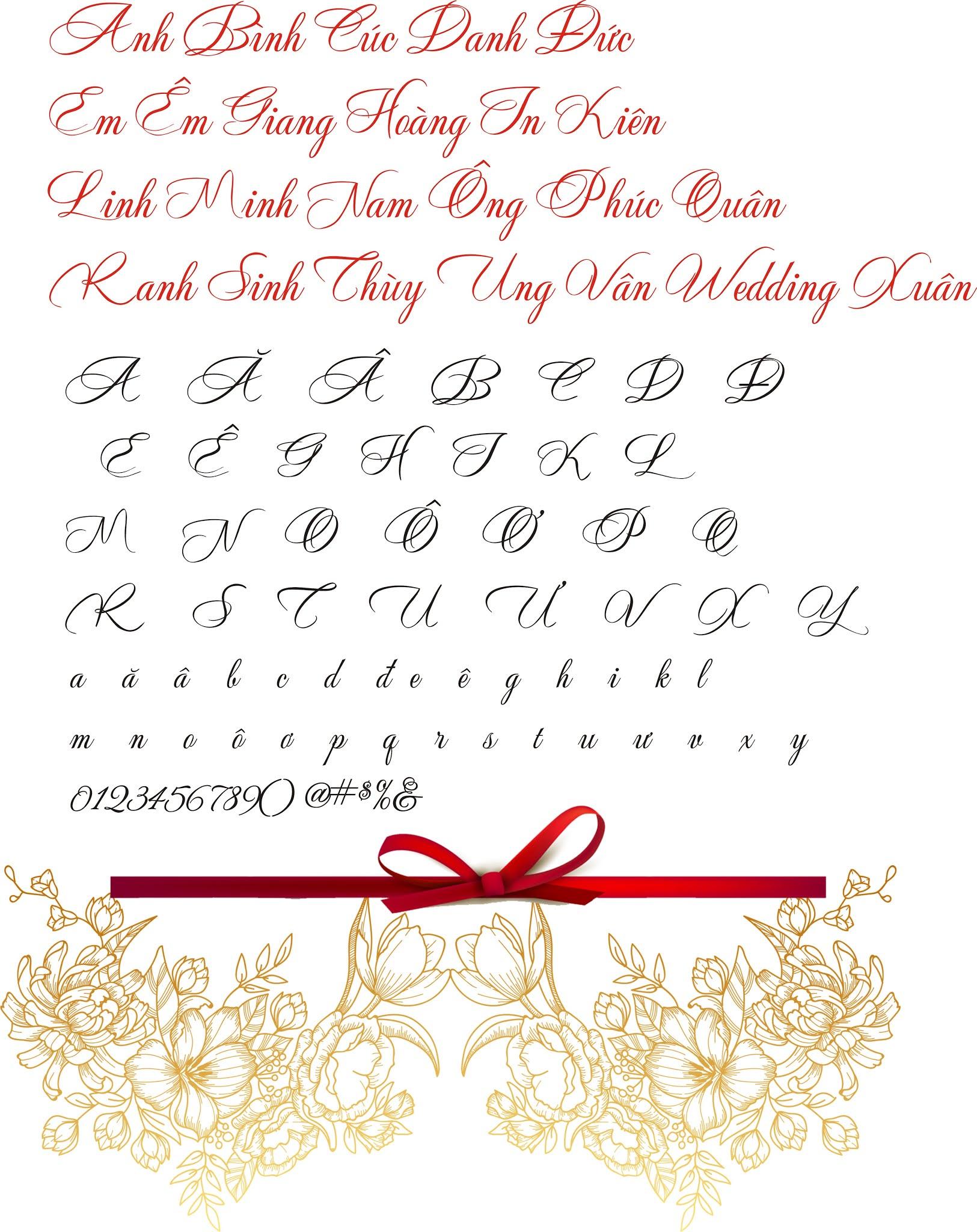 Fonts wedding Thiệp Cưới