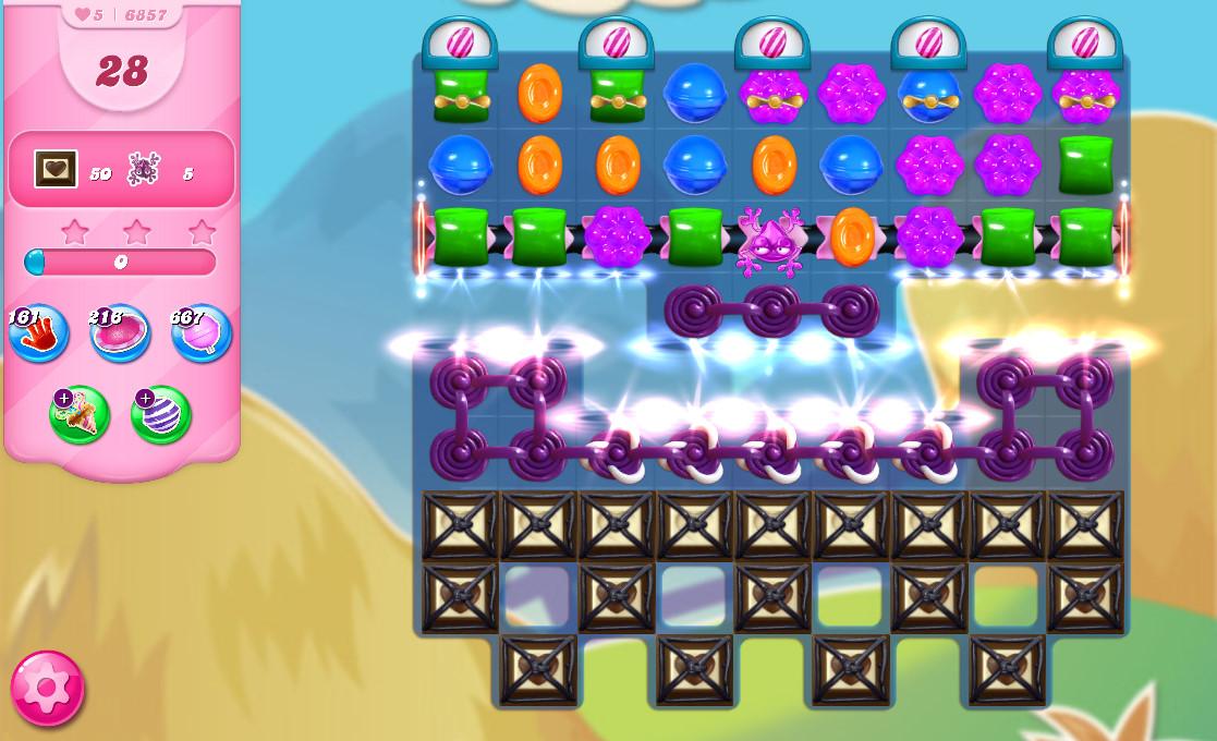 Candy Crush Saga level 6857