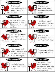 Valentine Cause and Effect Cards