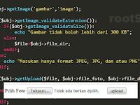 Tutorial PHP : Menyederhanakan Fungsi Upload Gambar kedalam Class