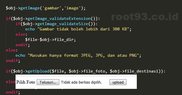 Menyederhanakan fungsi upload gambar php