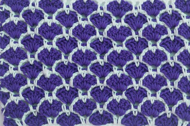 6 - Crochet Imagen Puntada a crochet de corazones y abanicos por Majovel Crochet