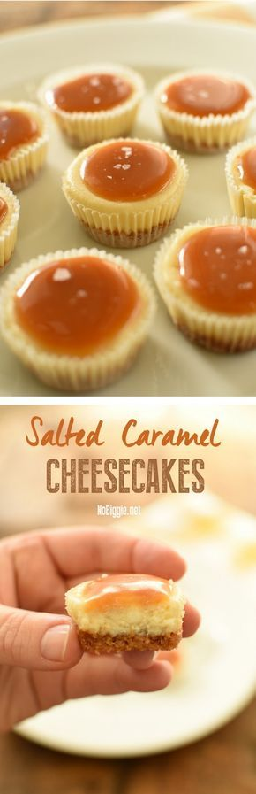 The salty sugariness caramel alongside the creaminess of the cheesecake layer together with the crunch of the  Salted Caramel Cheesecakes
