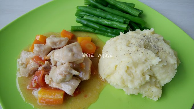 Resep : Chicken Stew with Mashed Potato Enak Anti Gagal