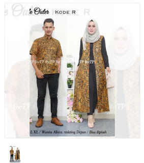 Batik couple long cardigan umaira sogan