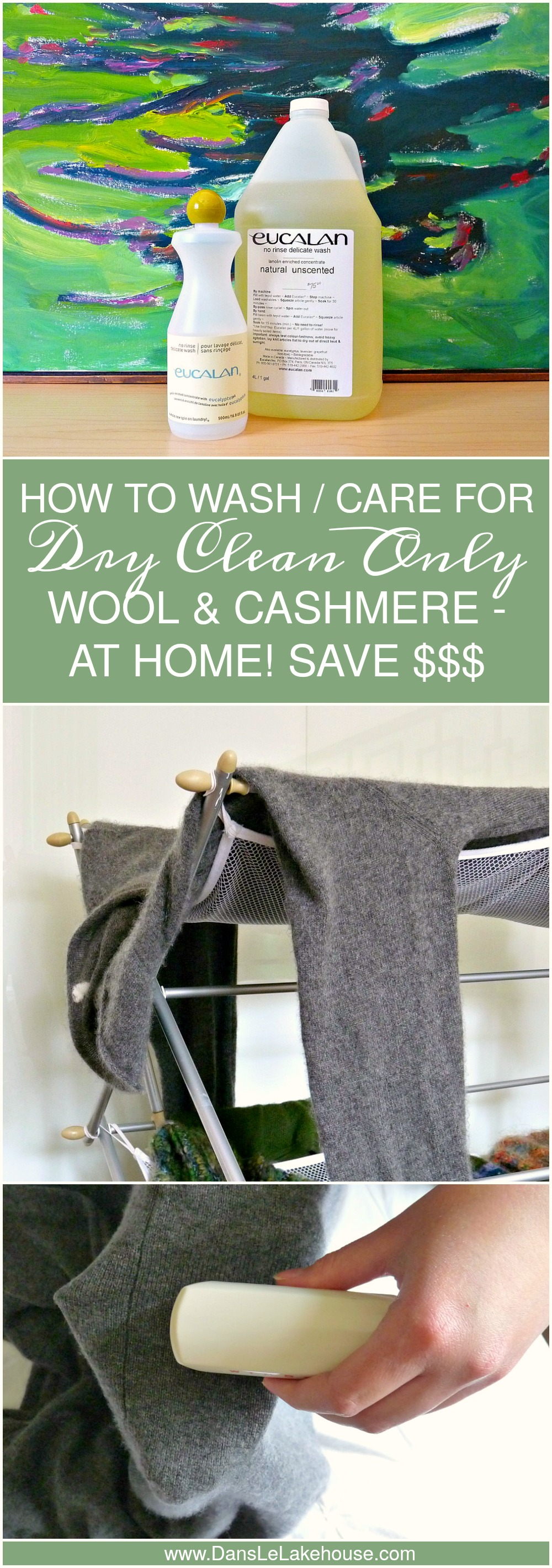 How to Wash and Care for Dry Clean Only Wool and Cashmere // Cleaning Tips // Saving Money (www.danslelakehouse.com)