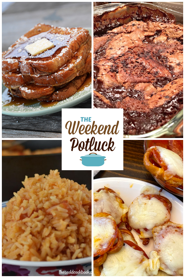 A virtual recipe swap with the Best Ever French Toast, Old Fashioned Hot Fudge Cake, Authentic Spanish Rice, Pepperoni Pretzel Pizza Bites and dozens more!