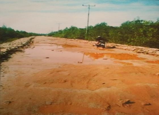 Jalan Poros Pelabuhan Desa Mekong Sangat Perlu  Mendapat Perhatian Pemkab Meranti  Maupun Provinsi Riau