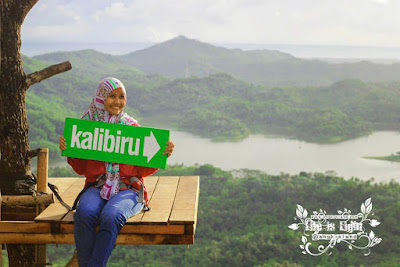 Beautiful girl in Kalibiru