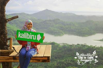 Beautiful girl in Kalibiru