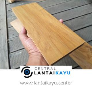 harga lantai kayu Jati B lebar 12 panjang 30 - 90 cm