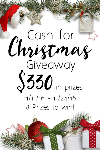 Gift card giveaway so you'll be ready for Black Friday shopping -- Amazon, Target, Walmart, Starbucks, and Kohls!  8 winners.. chance to win extra cash for Christmas!