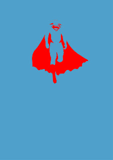 cartel minimalista  de super héroe Super Man