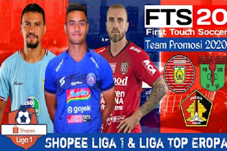 FTS 20 Mod Update Tim Promosi Shopee Liga 1 Indonesia 2020/2021