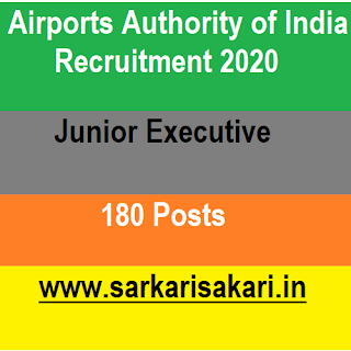 Airports Authority of India (AAI), a Government of India Public Sector Enterprise, constituted by an Act of Parliament, is entrusted with the responsibility of creating, upgrading, maintaining and managing civil aviation infrastructure both on earthand into the air space in the country. AAI has been conferred upon with the Mini Ratna Category -I Status. AAI has released a recruitment notification for 180 posts of Junior Executive.