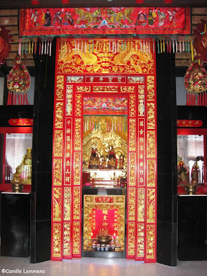 Guan Yu shrine, Hua Thanon, door detail
