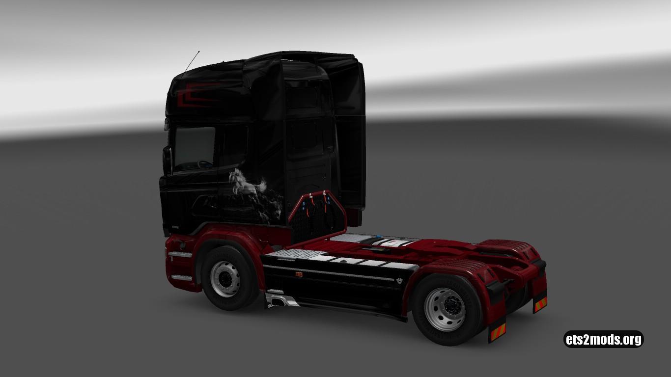 Scania RJL Horses Skin (v.21)