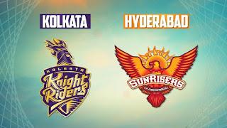 Kolkata Knight Riders (KKR) vs (SRH) Sunrisers Hyderabad