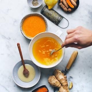 Varieties Of Turmeric-Based Beverages, Fresh And Healthy