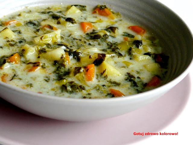 Zupa jarzynowa ze szpinakiem - Czytaj więcej »