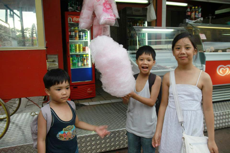 amusement park, praterstern cotton candy
