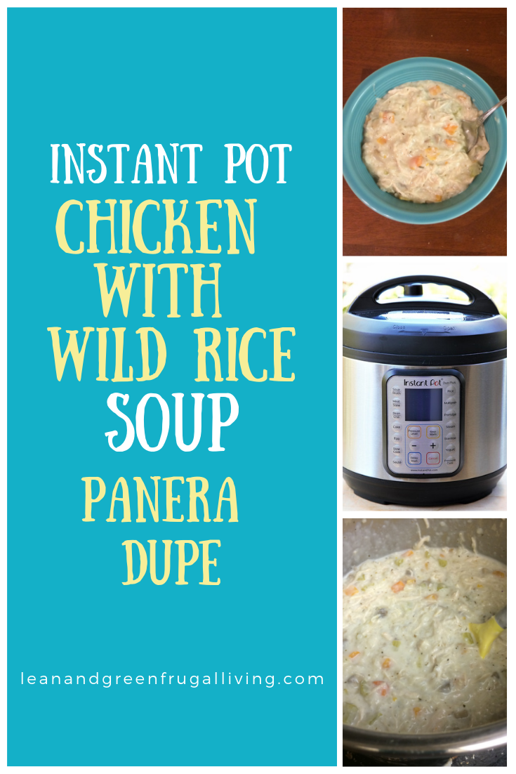 This Instant Pot chicken and wild rice recipe is a great copycat for the Panera soup. It is creamy and delicious! Super quick and easy!