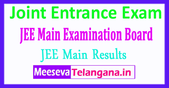 Joint Entrance Examination JEE Main Results 2018